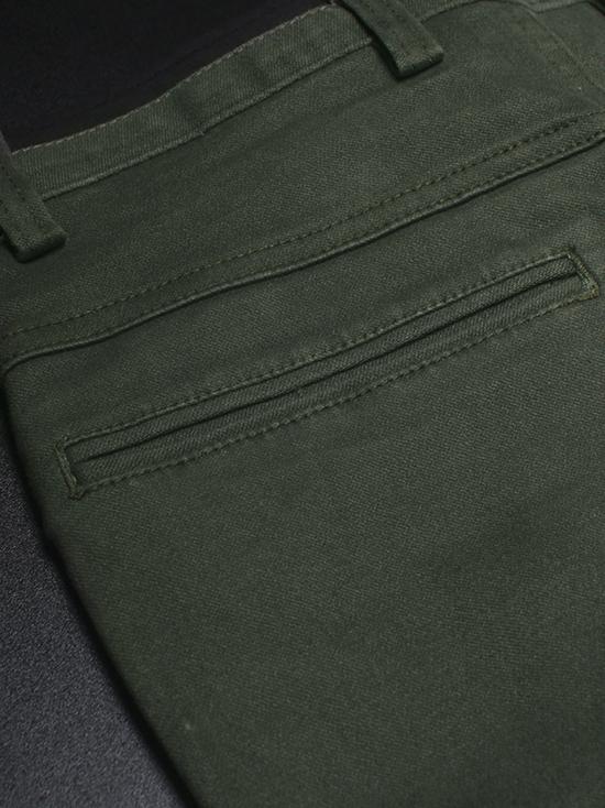 Quần kaki hàn quốc xanh rêu qk136 - 3