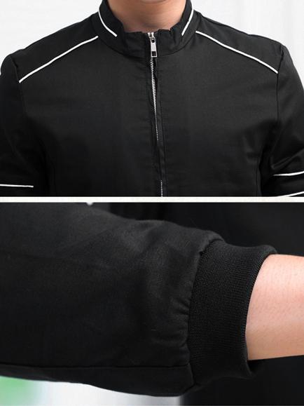 Áo khoác kaki đen ak140 - 3