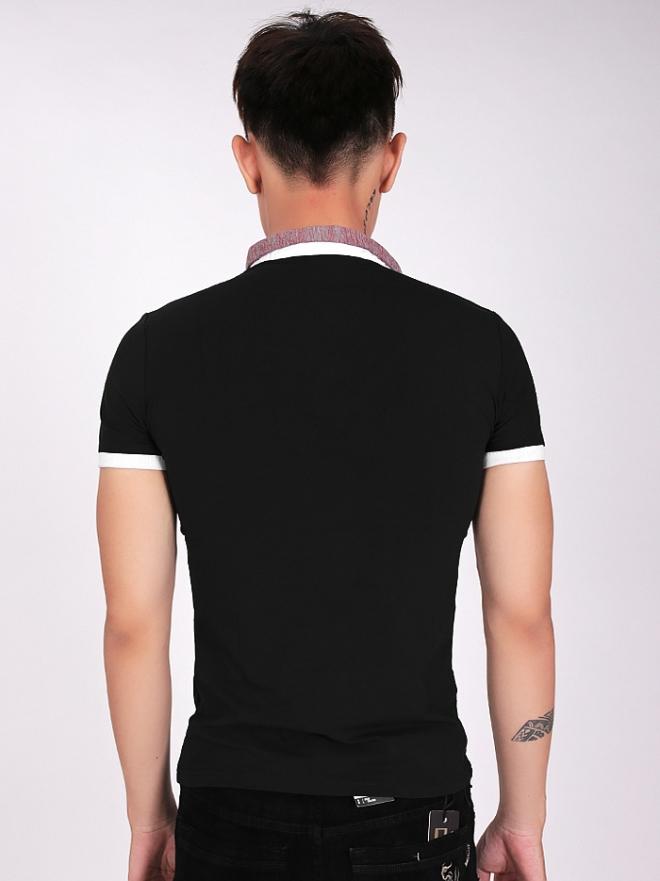 Áo thun có cổ đen at560 - 2