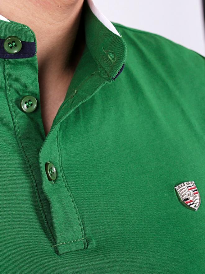 Áo thun có cổ xanh lá cây at554 - 3