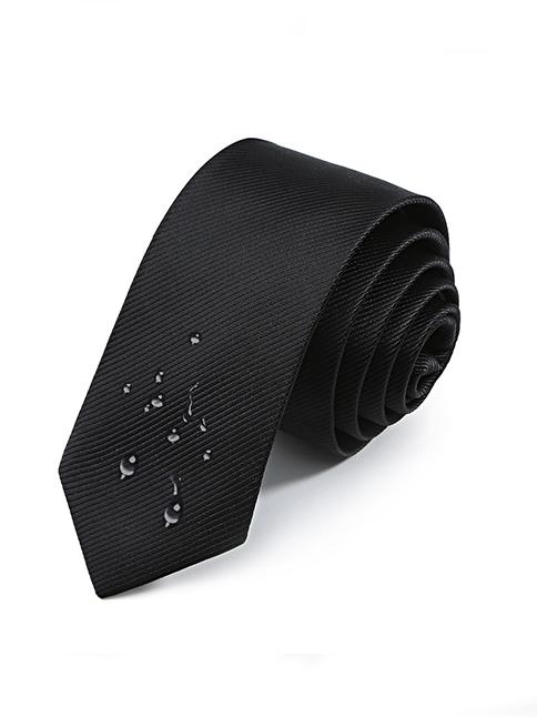 Cà vạt hàn quốc đen cv25 - 1