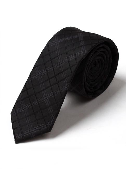 Cà vạt hàn quốc đen cv44 - 1
