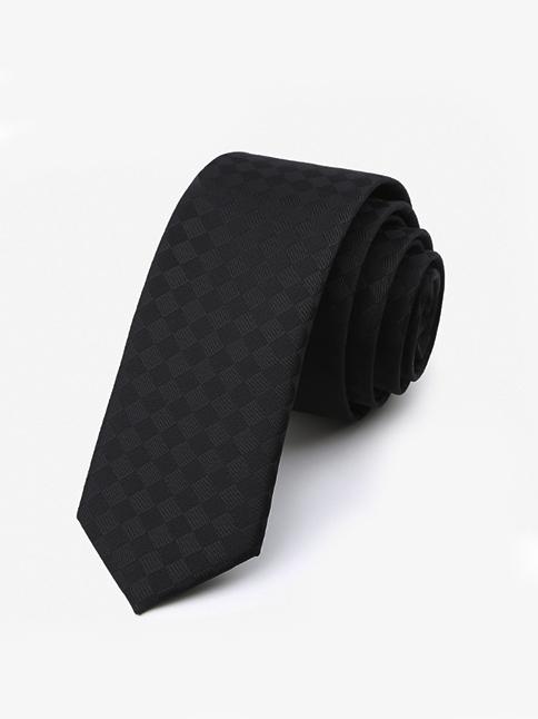 Cà vạt hàn quốc đen cv47 - 1