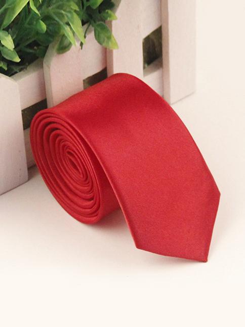 Cà vạt hàn quốc đỏ cv72 - 1