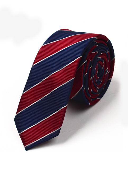 Cà vạt hàn quốc sọc đỏ cv41 - 1