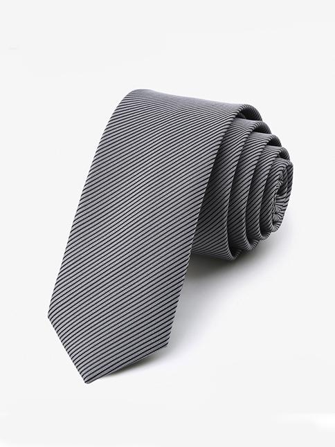 Cà vạt hàn quốc sọc xám cv34 - 1