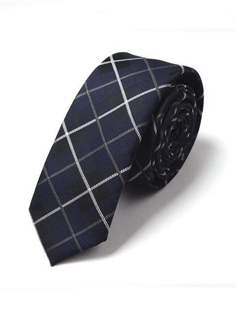 Cà vạt hàn quốc xanh đen cv32 - 1