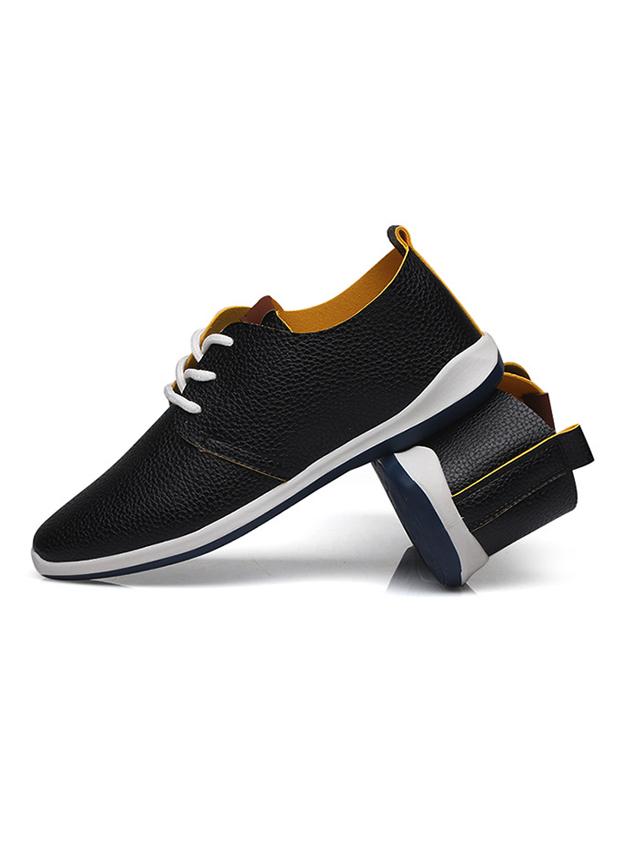 Giày da thời trang đen g16 - 1