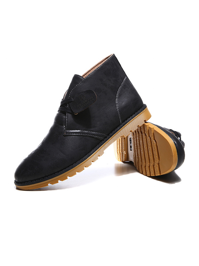 Giày da cổ lửng đen g21 - 1