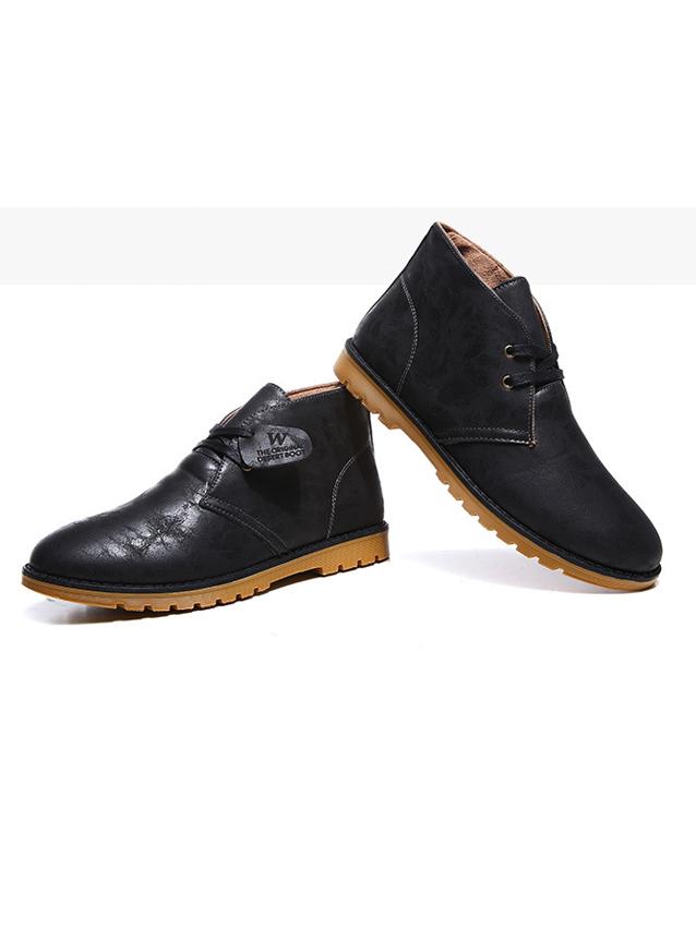 Giày Da Cổ Lửng Đen G21