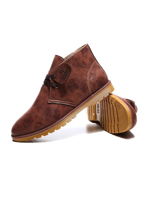 Giày Da Cổ Lửng Màu Bò G21
