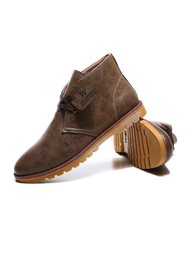 Giày da cổ lửng nâu g21 - 1