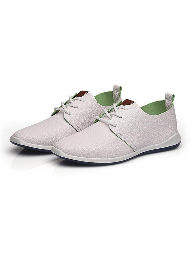 Giày Da Thời Trang Trắng Hồng G16