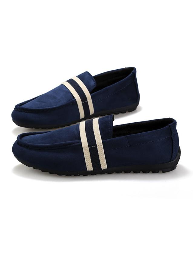 Giày mọi da lộn xanh đen g15 - 1