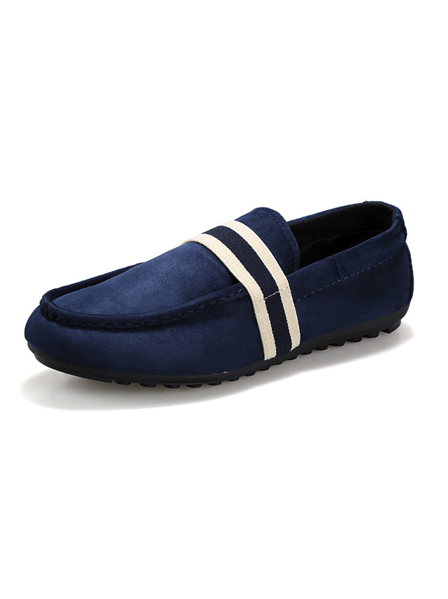 Giày Mọi Da Lộn Xanh Đen G15