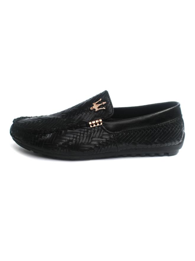 Giày Mọi Da Đen G08