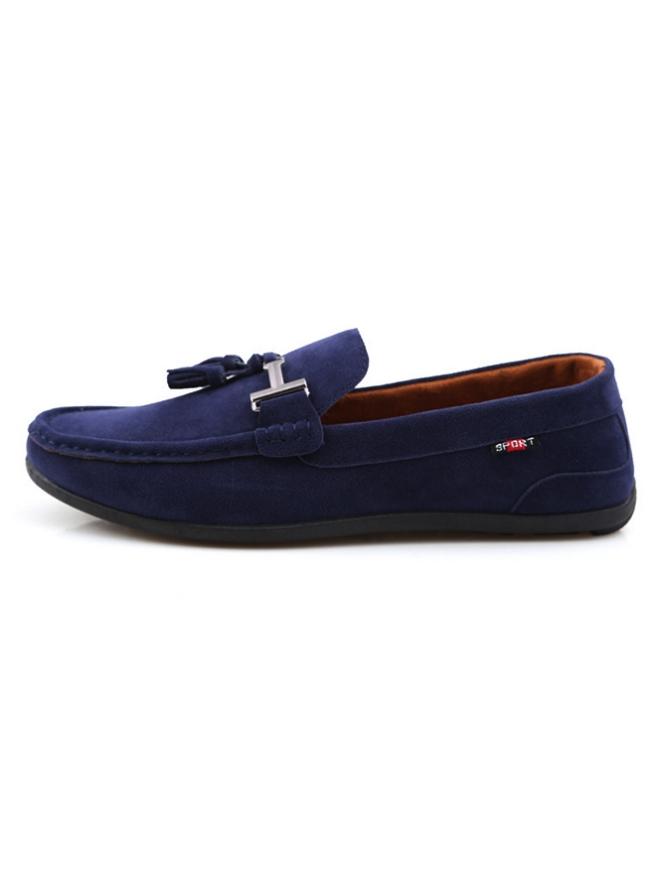 Giày mọi da lộn xanh đen g07 - 1