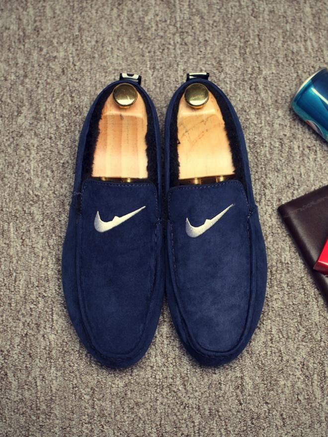 Giày Mọi Lót Lông Xanh Đen G09