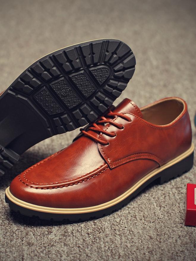 Giày Da Thời Trang Màu Bò G10