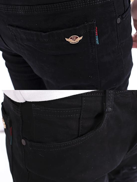 Quần jean rách đen qj1263 - 3