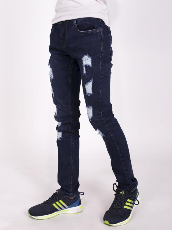 Quần jean rách xanh đen qj1253 - 2