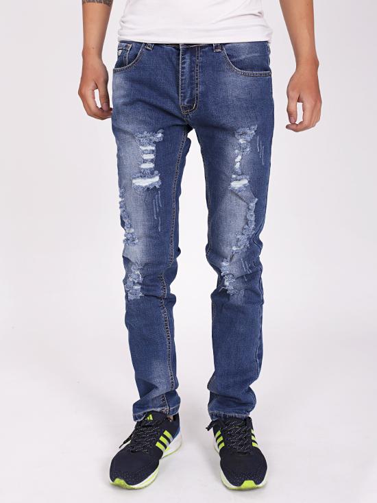 Quần jean rách xanh đen qj1264 - 1