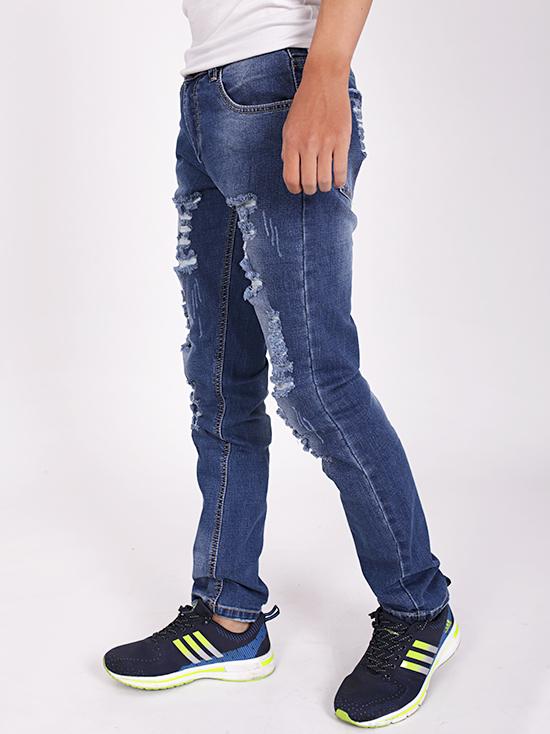 Quần jean rách xanh đen qj1264 - 2