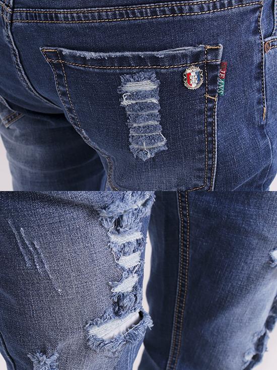 Quần jean rách xanh đen qj1264 - 3