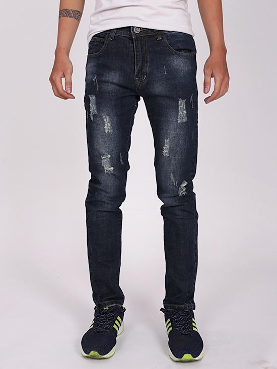 Quần jean rách xanh đen qj1267 - 1