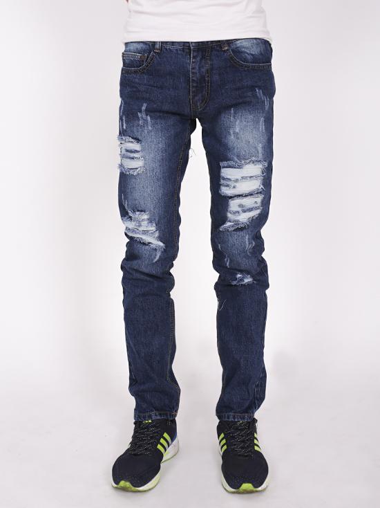 Quần jean rách xanh đen qj1270 - 1
