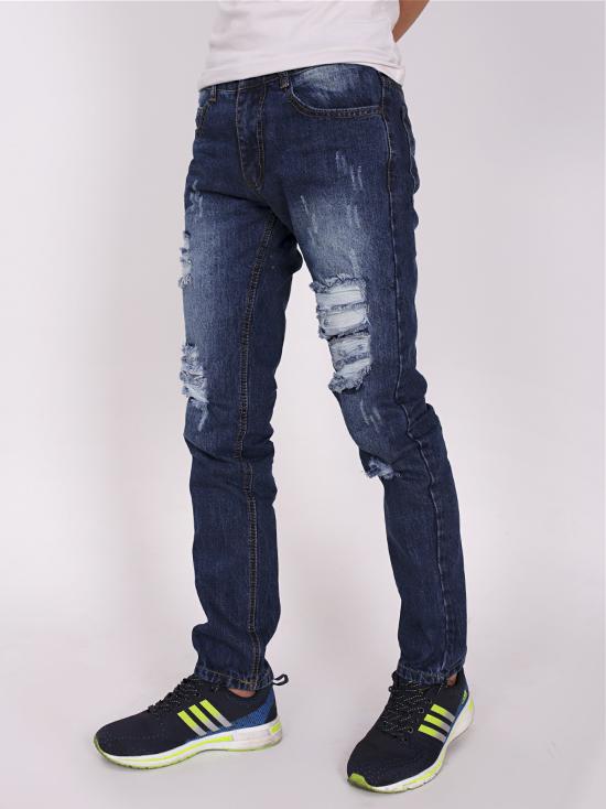 Quần jean rách xanh đen qj1270 - 2