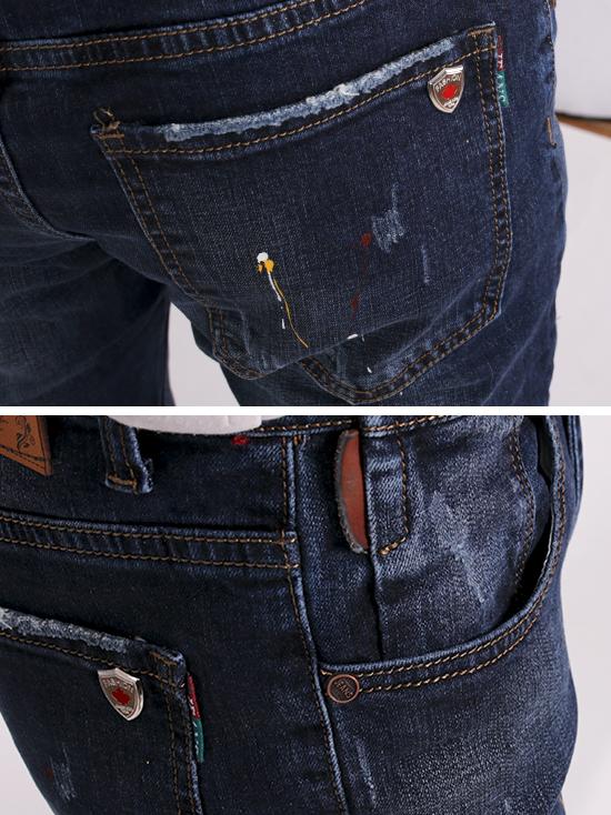 Quần jean rách xanh đen qj1271 - 3