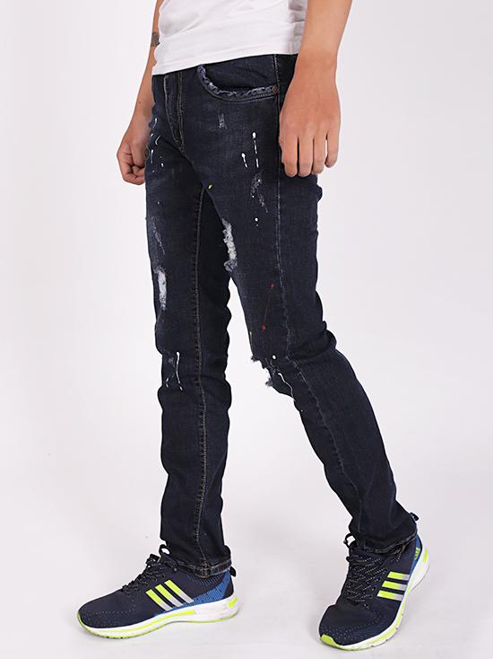 Quần jean rách xanh đen qj1272 - 2