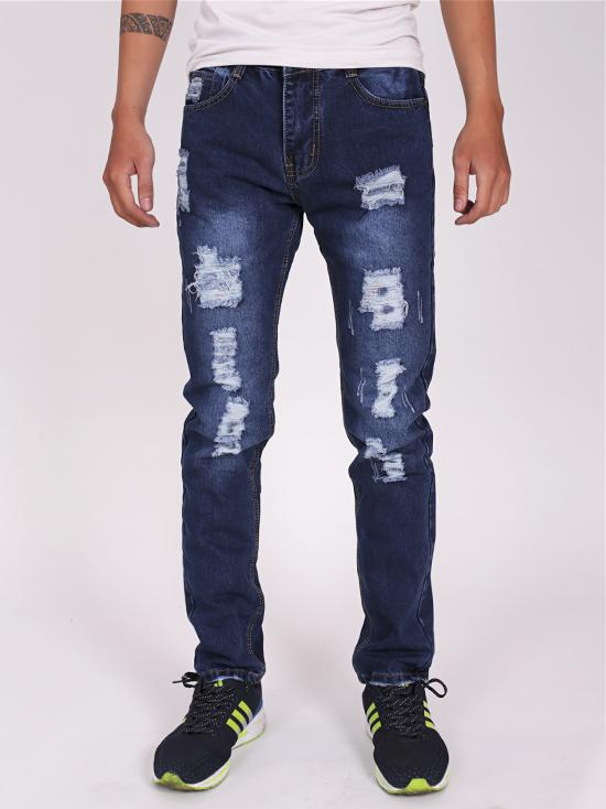 Quần jean rách xanh đen qj1274 - 1