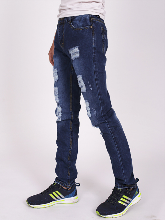 Quần jean rách xanh đen qj1274 - 2