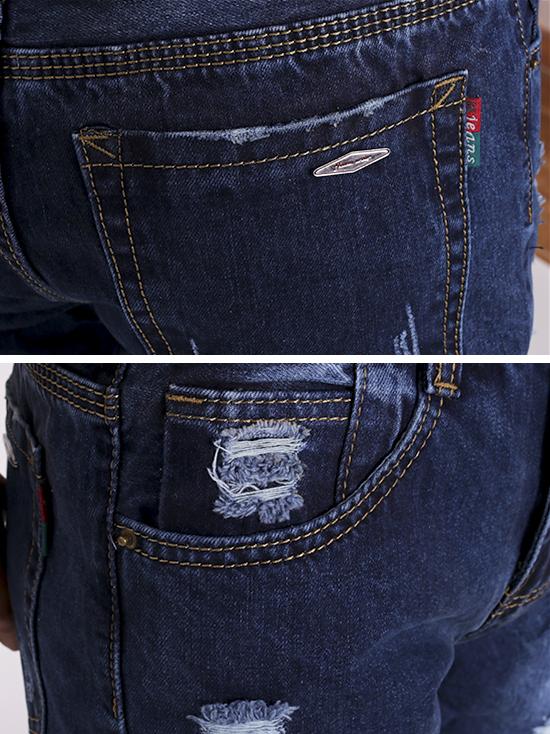 Quần jean rách xanh đen qj1274 - 3