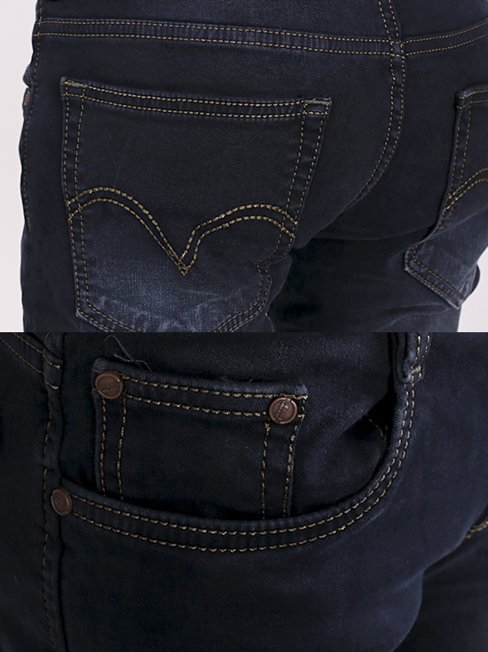 Quần jean skinny xanh đen qj1255 - 3