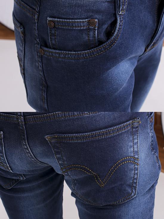 Quần jean skinny xanh dương đậm qj1255 - 3
