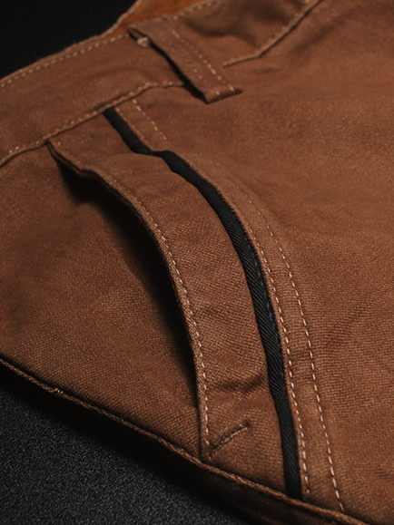 Quần kaki hàn quốc màu bò đậm qk135 - 2