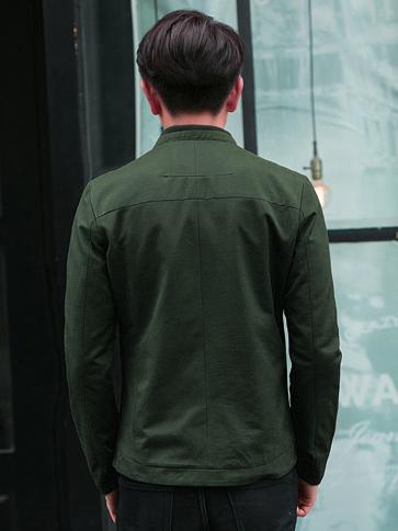 Áo khoác kaki xanh rêu ak173 - 2