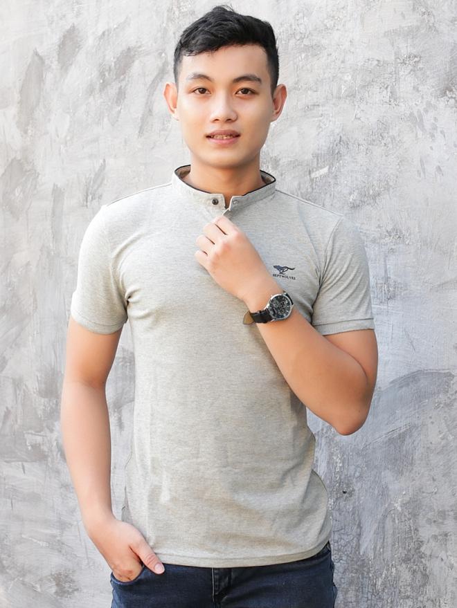 Ao Thun Ca Sau Xam Muoi Tieu AT580