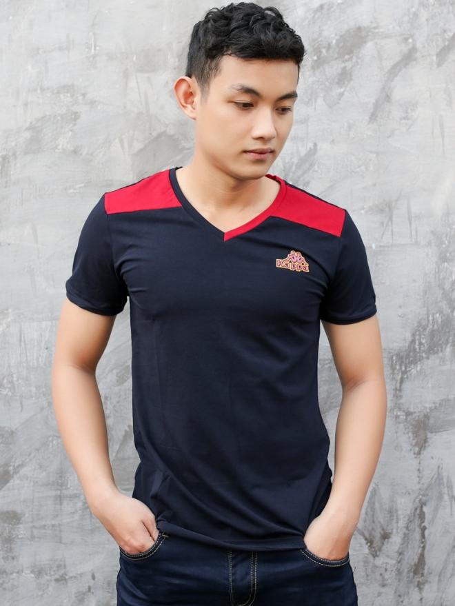 Ao Thun Co Tim Xanh Den AT575