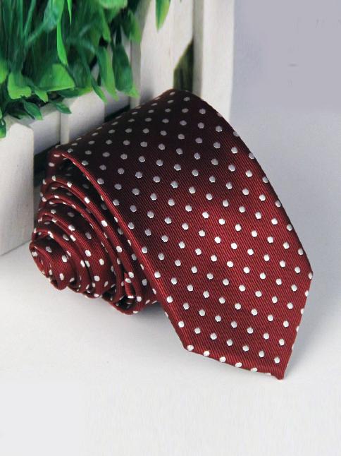 Cà vạt hàn quốc đỏ đô cv84 - 1