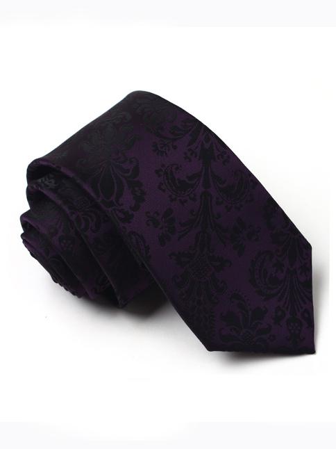 Cà vạt hàn quốc họa tiết tím cv76 - 1