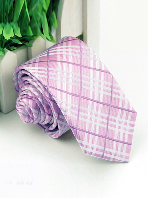 Cà vạt hàn quốc hồng cv82 - 1