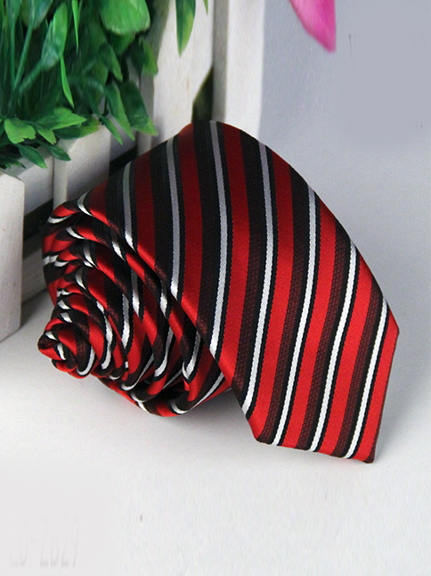 Cà vạt hàn quốc sọc đỏ cv88 - 1