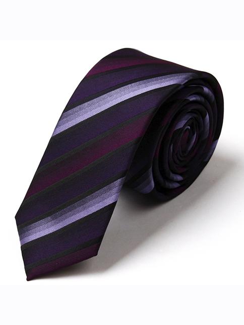 Cà vạt hàn quốc sọc tím cv74 - 1
