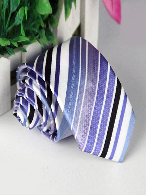 Cà vạt hàn quốc sọc xanh cv87 - 1