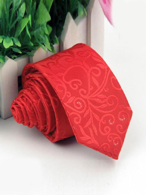 Cà vạt nam hàn quốc đỏ cv01 - 1