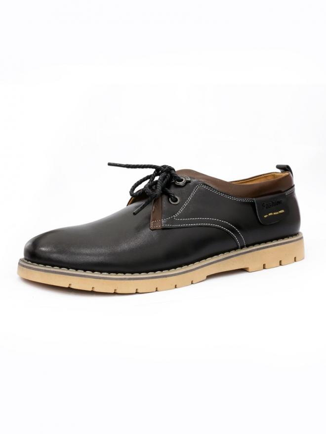 Giày da thời trang đen g39 - 1